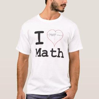 Camiseta Mim matemática da equação do coração