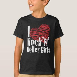 Camiseta Mim meninas do rock'n'roller do coração