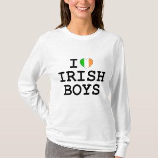 Camiseta Mim meninos do irlandês do coração