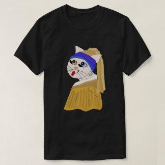 Camiseta Mim ow com um brinco da pérola/série clássica