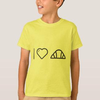 Camiseta Mim pães do Croissant do coração