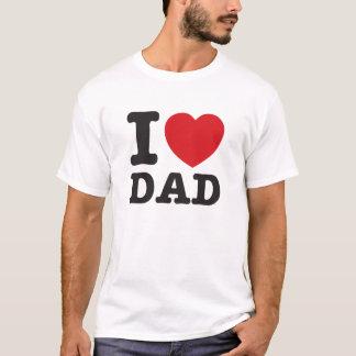 Camiseta Mim pai do coração elegante