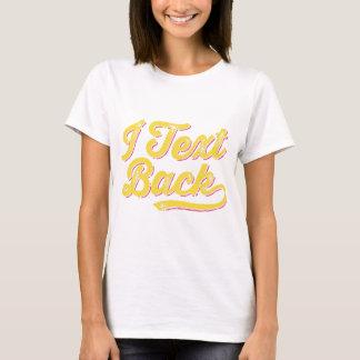 Camiseta Mim parte traseira do texto!