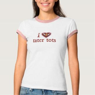 Camiseta mim pequenos do tater do coração