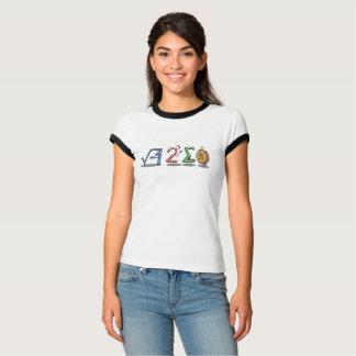 Camiseta mim piada da equação da matemática de 8 pi da soma