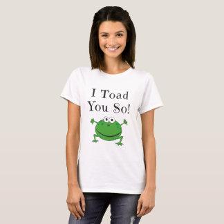 Camiseta Mim sapo você assim! - Design engraçado da piada