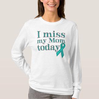 Camiseta Mim senhorita Meu Mamã Hoje (câncer de ovário)