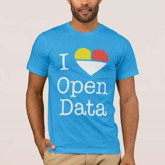 Camiseta Mim t-shirt aberto dos dados CKAN do coração