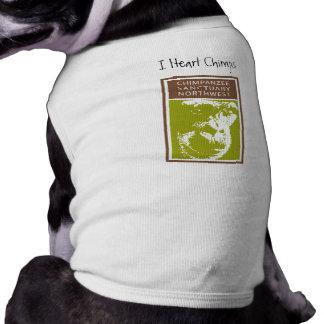 Camiseta Mim t-shirt do cachorrinho dos chimpanzés do coraç