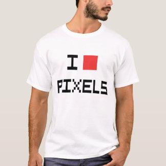 Camiseta Mim t-shirt dos pixéis do coração