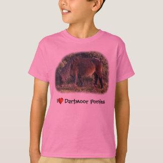 Camiseta Mim t-shirt dos pôneis de Dartmoor do coração