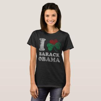 Camiseta Mim trevo Barack Obama do coração