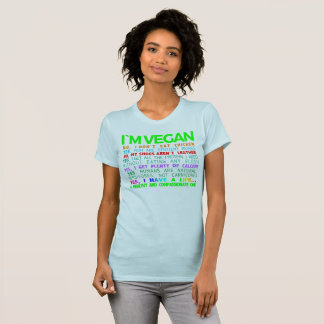 CAMISETA MIM VEGAN DO ` M: T-SHIRT