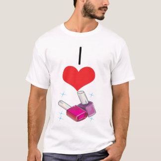 Camiseta Mim verniz para as unhas do coração (amor)