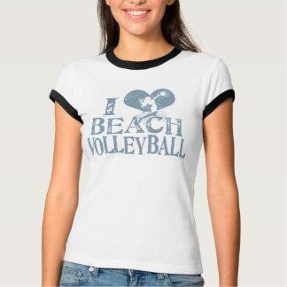 Camiseta Mim voleibol de praia do coração