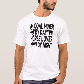 Camiseta Mineiro de carvão do amante do cavalo