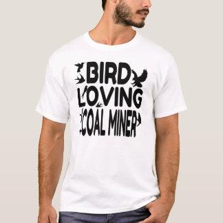 Camiseta Mineiro de carvão Loving do pássaro