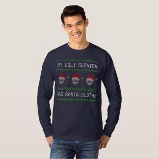 Camiseta Minha camisola feia tem preguiças do papai noel