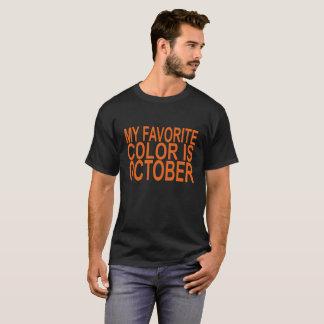 Camiseta minha cor favorita é outubro.