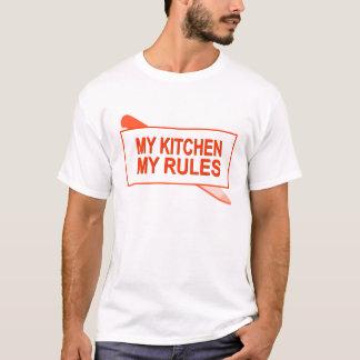 Camiseta Minha cozinha. Minhas regras. Design do