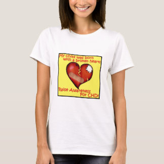 Camiseta Minha criança era nascida com um coração quebrado