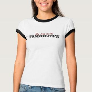 Camiseta Minha dieta começa amanhã