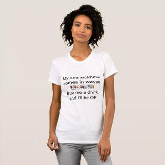 Camiseta Minha doença de mar vem nas ondas