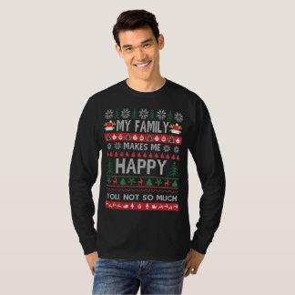 Camiseta Minha família faz-me o Natal feio feliz