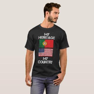 Camiseta Minha herança meu t-shirt americano português do