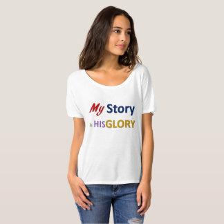 Camiseta Minha história é seu T do namorado da glória