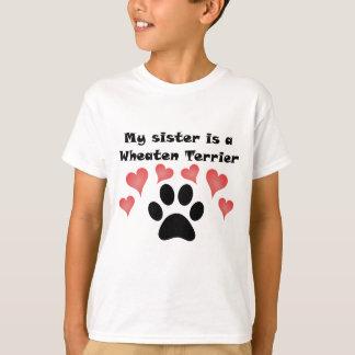 Camiseta Minha irmã é Terrier Wheaten
