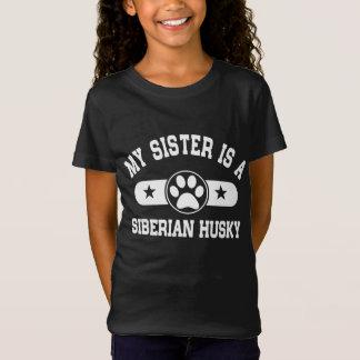 Camiseta Minha irmã é um rouco Siberian