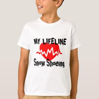Camiseta Minha linha de vida design calçando dos esportes