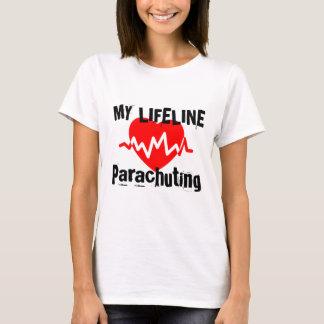 Camiseta Minha linha de vida design de salto de pára-quedas