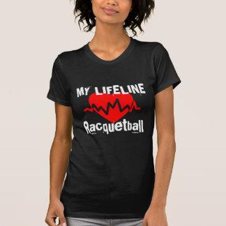 Camiseta Minha linha de vida Racquetball ostenta o design