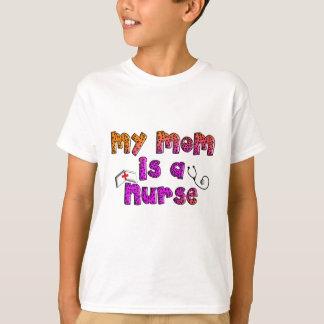"""Camiseta """"Minha mamã é cão de uma enfermeira"""" & caçoa"""