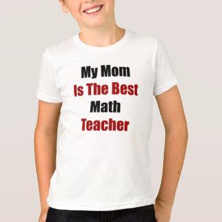 Camiseta Minha mamã é o melhor professor de matemática