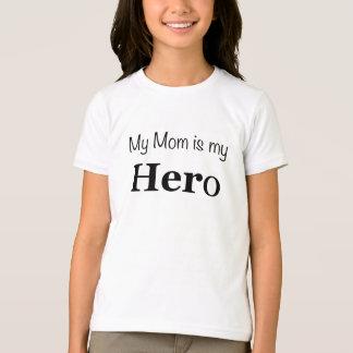 Camiseta Minha mamã é o t-shirt da minha menina do herói