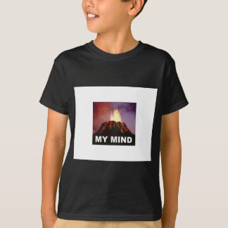 Camiseta minha mente do vulcão