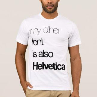 Camiseta Minha outra pia batismal (preto no branco)