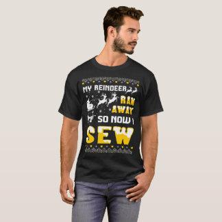 Camiseta Minha rena funcionou-me afastado tão agora Sew o