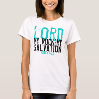 Camiseta Minha rocha & meu t-shirt do verso da bíblia do