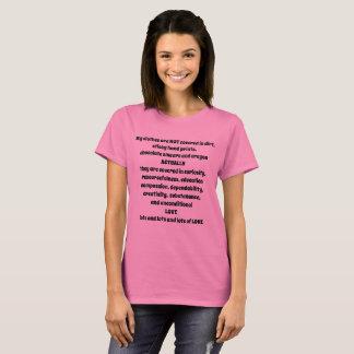 Camiseta Minha roupa não é - eu tenho uma criança - T sujo