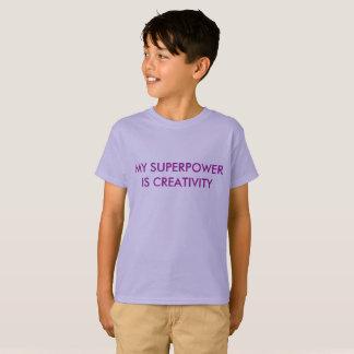 Camiseta Minha superpotência é faculdade criadora