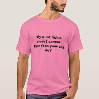 Camiseta Minha tia luta o cancro da mama.  O que faz seu…