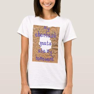 Camiseta Minhas cabras de Oberhasli comeram meus trabalhos