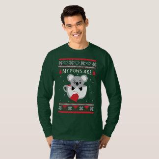 Camiseta Minhas chalaças são Natal feio da camisola
