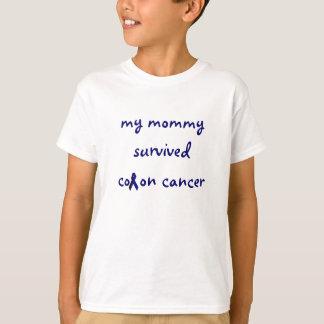 Camiseta minhas mamães sobreviveram ao t-shirt do cancro do