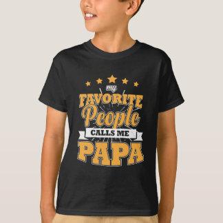 Camiseta Minhas pessoas favoritas chamam-me papá
