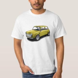 Camiseta Mini carro do amarelo 1969 clássicos no t-shirt